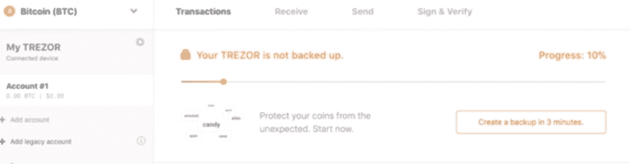 After the wallet creation, the first thing to do is create a backup of your wallet.