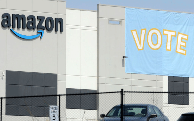Amazon's Union Election Attracts 55% Voter Turnout