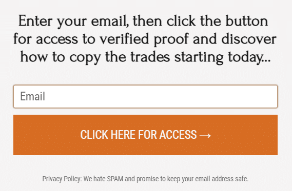 To get access to the presentation of The Fund Trader, we have to provide our email for their spam.